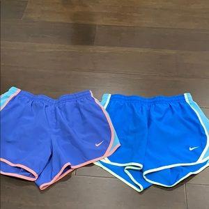 2 pairs of Nike dri-fit shorts children's